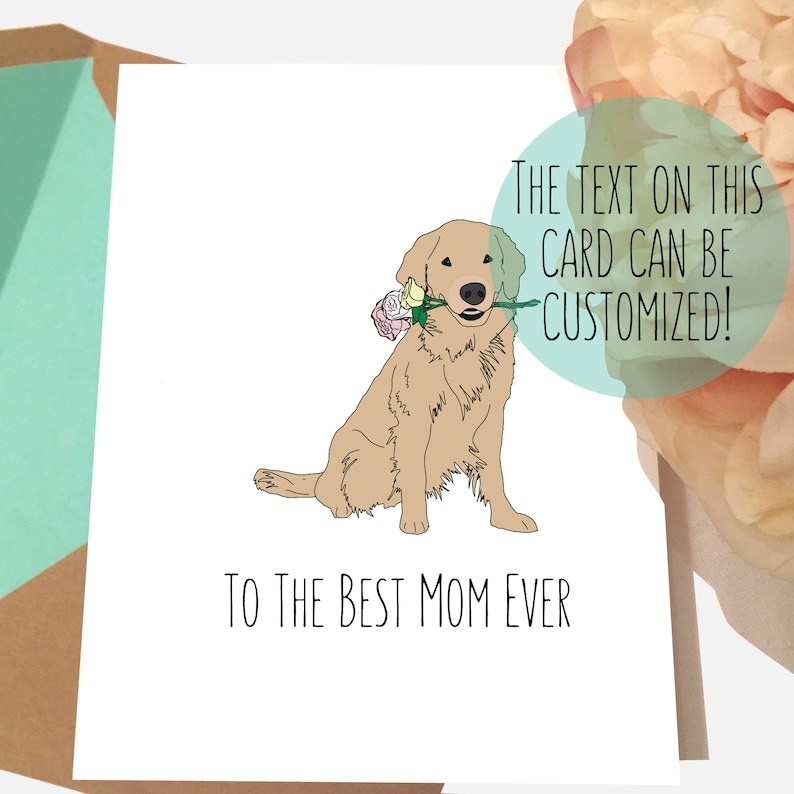 Golden Retriever Card Dog Mom Or Dad Birthday To The