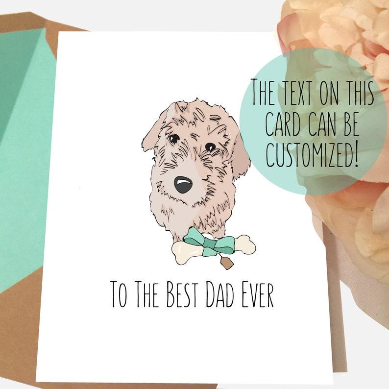 GOLDEN Doodle Dog Dad Birthday Card