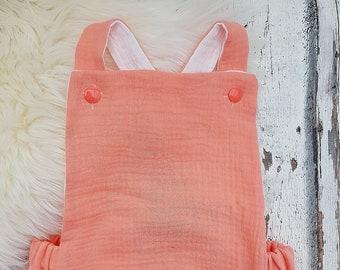 Summer-Romper, short slacks, muslin, different Versions