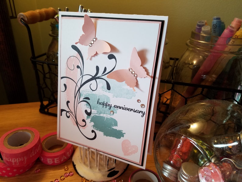 Anniversary Card Happy Anniversary Family Flourish Gift Ideas For Her and Him Love Gift Congratulations