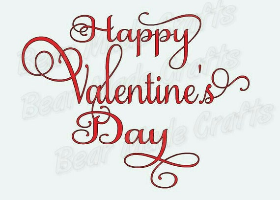 Happy Valentines Day Svg Instant Downlaod Cutting File Etsy