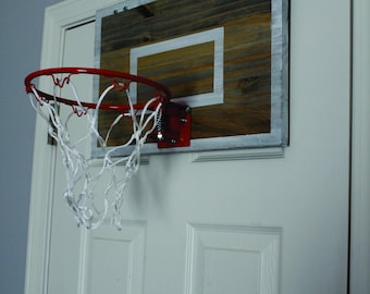 Rustic Wood Basketball Goal Wall Decor Over The Door Great For Man Cave,  Basement, Office Or Childs Sports Room. Basketball Hoop CHOOSE SIZE