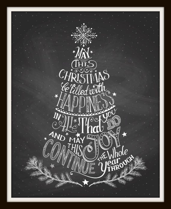 Christmas Images To Print.Christmas Tree Calligraphy Chalkboard Art Christmas Print Christmas Tree Calligraphy Art Holidays Christmas Gift Black And White