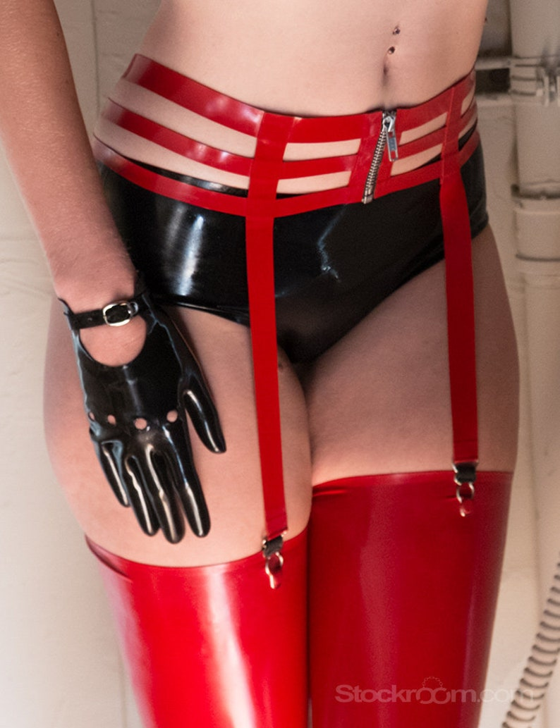 The Latex Cage Garter