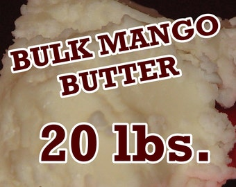 20 Pounds Mango Butter, Wholesale Pricing, Bulk Size, Pure - Fresh - Top Grade