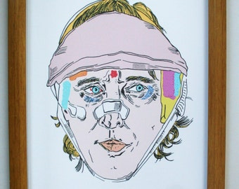 The Darjeeling Limited Illustration. Wes Anderson. Owen wilson. Movie Art