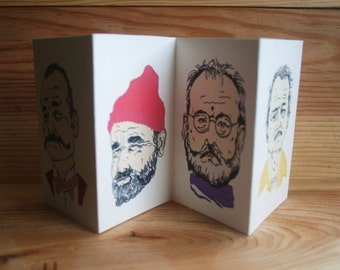 Wes Anderson Print - Bill Murray Gift - The Life Aquatic - The Royal Tenenbaums - The Grand Budapest Hotel - Rushmore -