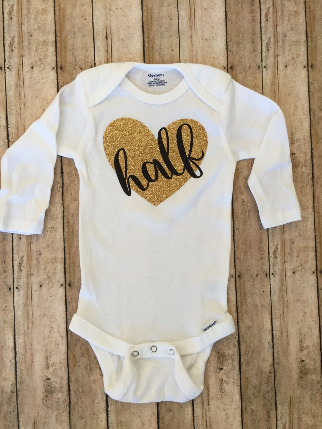 649238572b768 FREE SHIPPING half birthday onesie it s my half