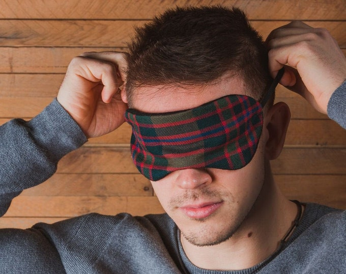 John Muir Way Tartan Scented Herb Eye Mask*Free Shipping*