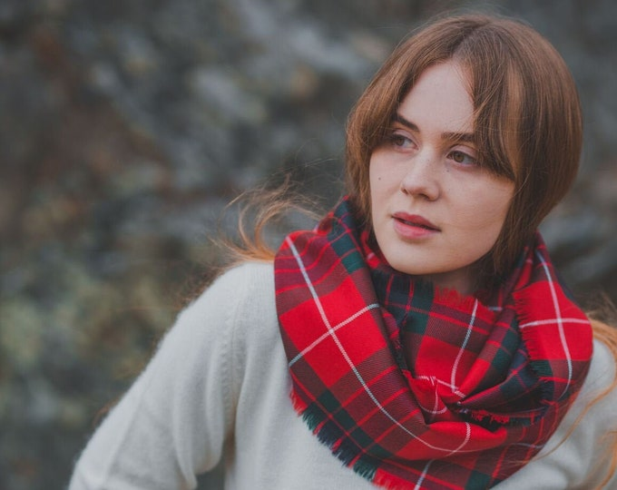 Red Fraser Tartan Outlandish Cowl Wrap