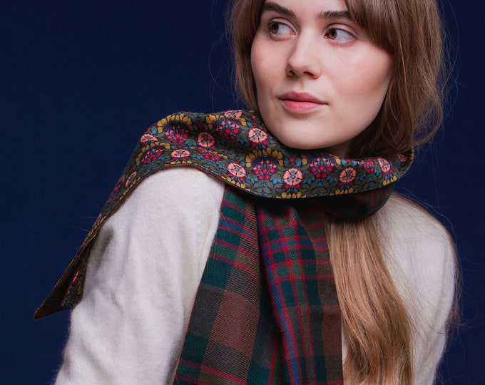 John Muir Way tartan Liberty Lined Long Scarf