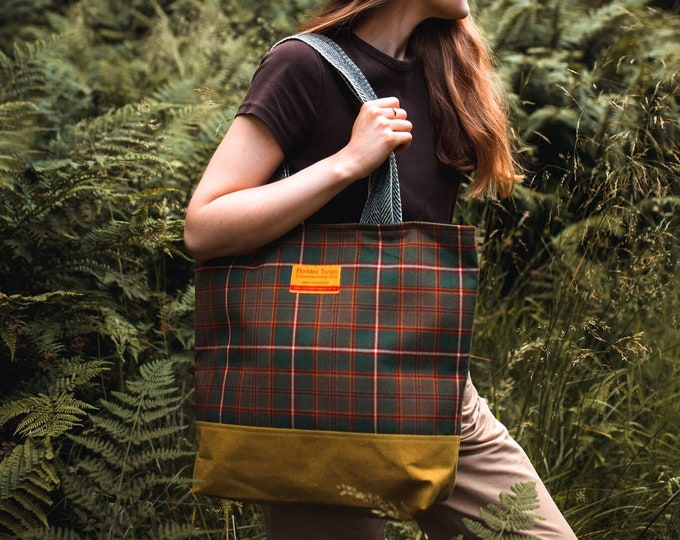 Thistle Scottish Wool Shopper Bag with Liberty Print Lining