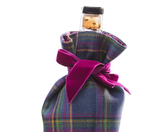 Highland Mist Tartan & Liberty Print Luxury Scottish Bottle Bag