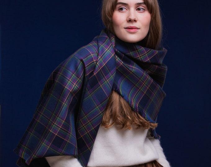 Highland Mist tartan Shawl