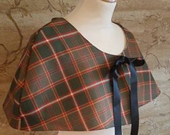 Flodden Commemorative Tartan Shoulder Cape with Liberty Print Lining