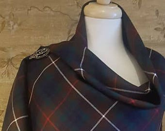 Modern Hunting Fraser Outlandish Shawl with Optional Clan Fraser Pin Selection *FREE SHIPPING*