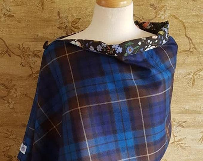 Featured listing image: Blue Buchanan Tartan Shoulder Poncho Liberty Lining