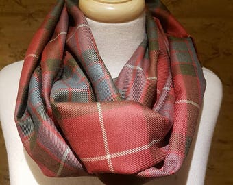Weathered Red Fraser Outlandish Cowl Wrap