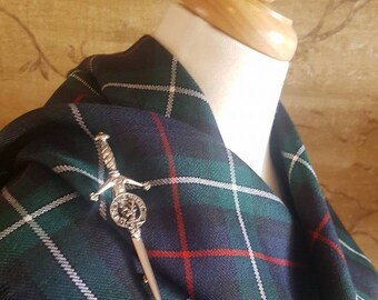 Modern MacKenzie Outlandish Shawl with Optional Clan Fraser Pin Selection *FREE SHIPPING*