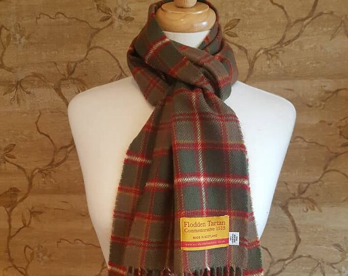 Featured listing image: Lambswool Flodden Commemorative Tartan Scarf