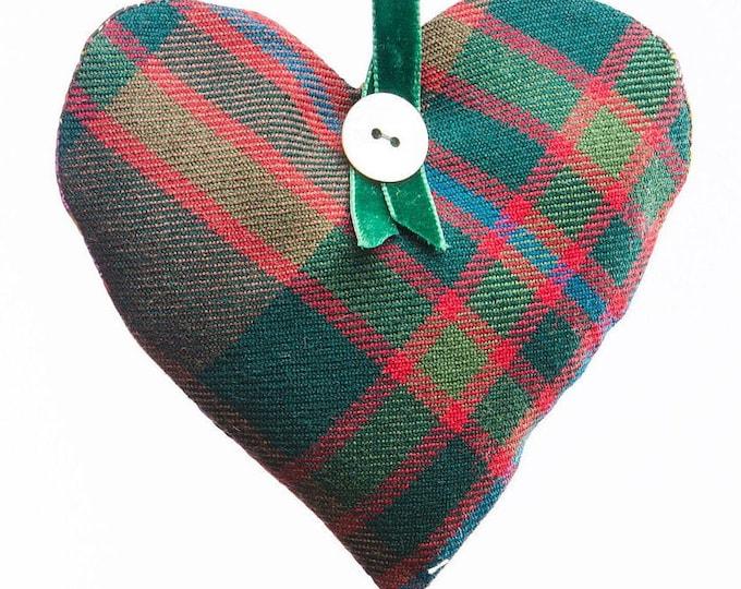 John Muir Way Tartan Scented Herb Hanging Heart