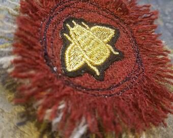 Mixed Harris Tweed Brooch with Bee Embellishment