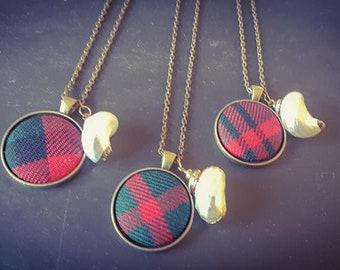 Dunbar Tartan Shell Charm Necklace