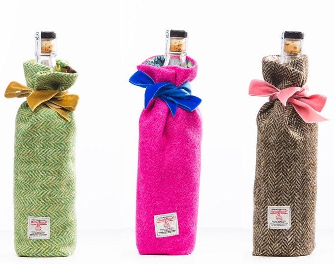 Harris Tweed  & Liberty Print  Luxury Scottish Bottle Bag