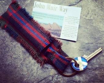 John Muir Way Tartan Balm Tube Keyring