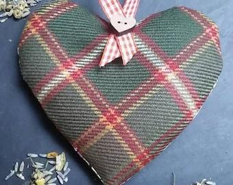 Flodden Tartan Scented Herb Hanging Heart