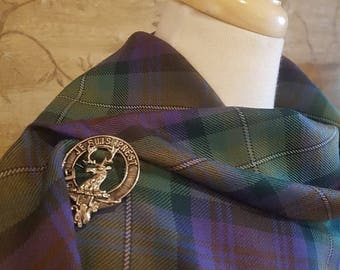 Isle of Skye Outlandish Shawl with Optional Clan Fraser Pin Selection