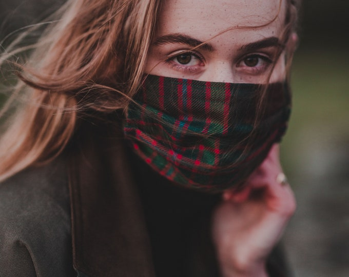 John Muir Way Tartan 3-Layer Face Mask