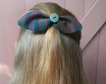 John Muir Way tartan & Liberty Print  Hair Bow
