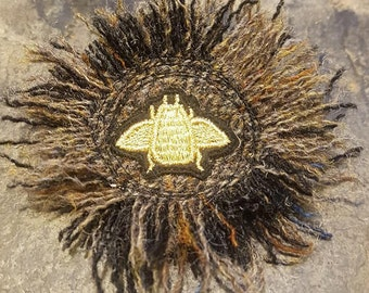 Bee Embellished Harris Tweed Brooch