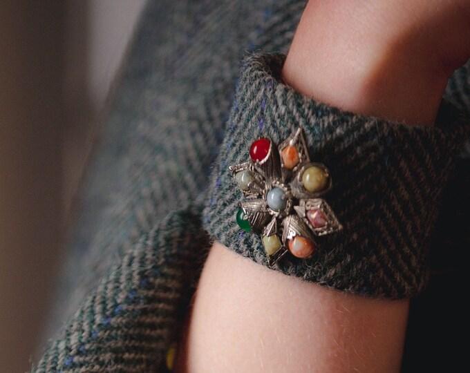 Harris Tweed Charm Cuff Bracelets