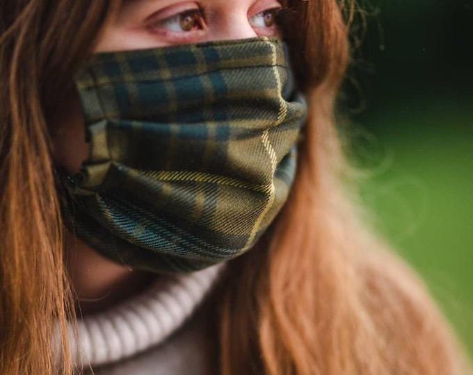 Scottish Tartan & Liberty Print 3-Layer Face Mask - Pot Luck Tartan/Prints !