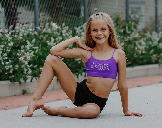 Seamless Dance Cropped Sports Bra