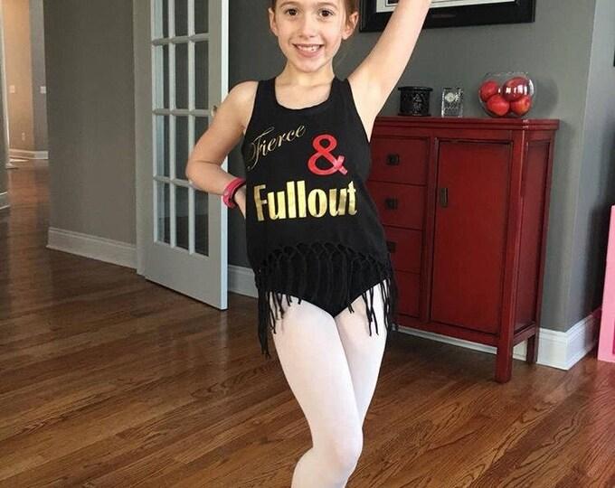 Girls dance tank, Fierce & Fullout Tank, dancewear, girls black dance tanks, free shipping, girls dancewear, dance gifts, christmas gifts