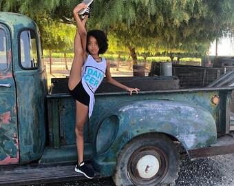 Girls dancer tank,dance shirt,dancewear,black tank,girls tank,girls shirt,free shipping,dance gift,recital gift,dance recital,dancer tank