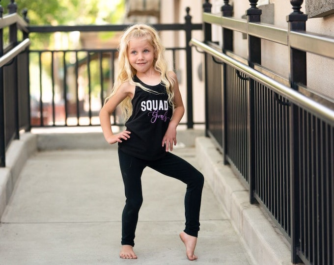 Squad goals,Girls pink dance tank, dancewear,dance tanks,kids dance tank, girls dancewear,convention apparel,dance gifts, christmas gifts, f