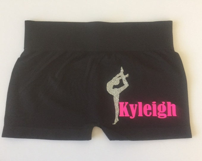 Personalized Glitter Dance Shorts