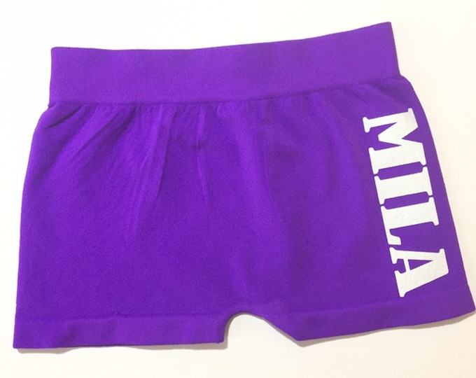 Personalized Glitter Name Dance Shorts