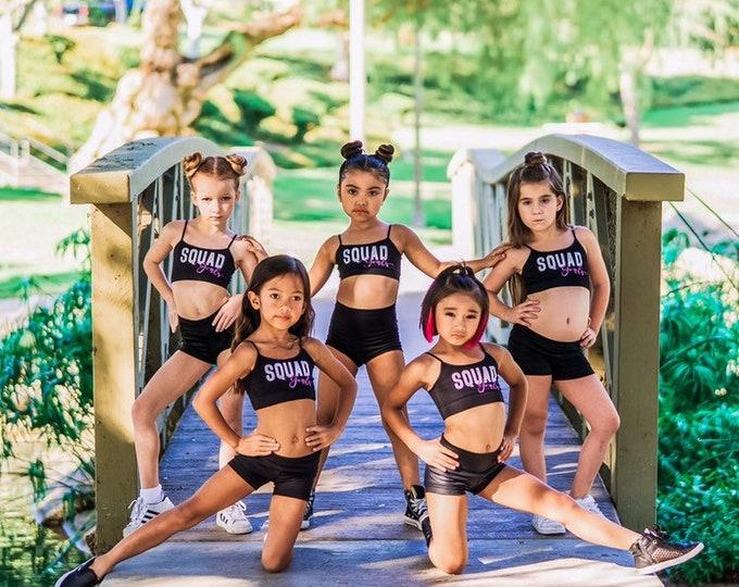 Squad Goals Girls Sports Bra