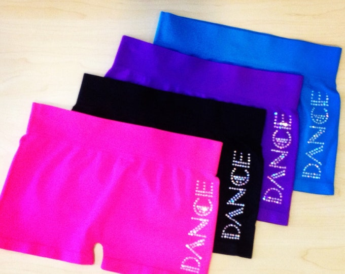 Girls Dance shorts,Dancewear,dance gifts,Christmas gifts,stocking stuffer,kids Dancewear,shorts, free shipping, shorts, black dance shorts