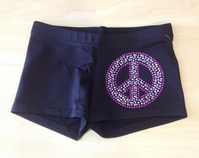 Peace sign shorts