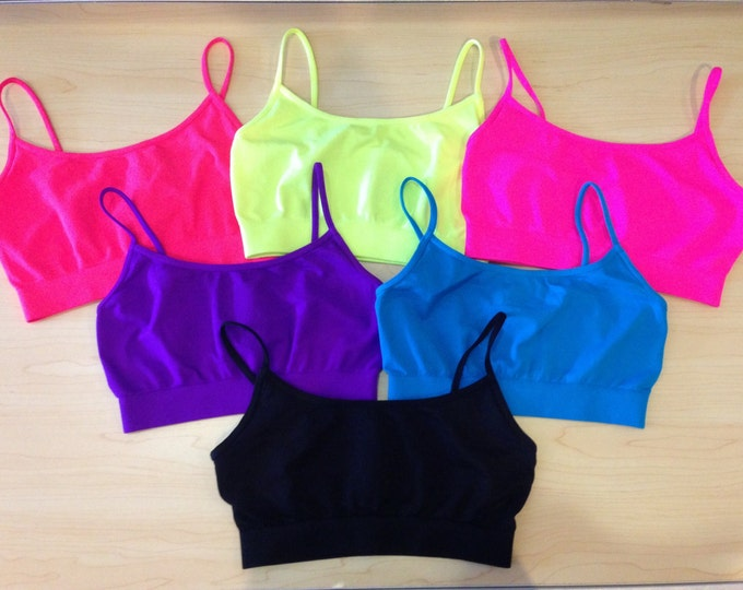Girls seamless sports bra