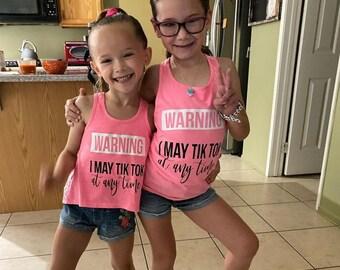 Tik Tok Tank Top For Kids, Back To Dance Gifts, Girls Dance Shirt, Dancewear Gifts, Gift for Dancer, Tik Tok tank, Tik Tok shirt