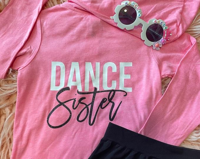 Glitter Dance Sister zip Up Sweatshirt