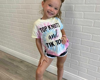 Top Knots and Tik Tok T-Shirt for Dancers, Girls Tik Tok Shirt, Dancers Practice Clothing, Girls Dance Gifts