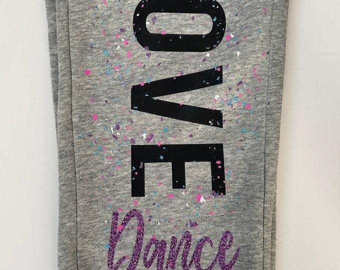 Love Dance Splatter Sweats